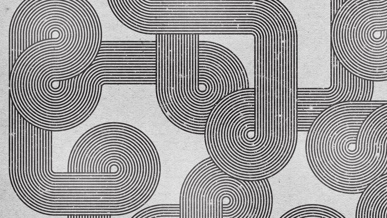 Line Drawing Styles : Retro style geometric lines illustrator photoshop