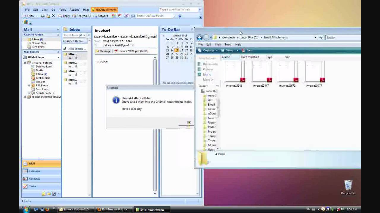 outlook and excel vba invoice log sheet youtube