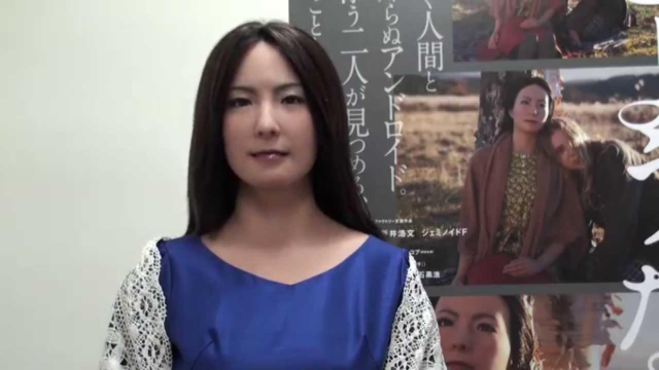 """画像: アンドロイド""""ジェミノイドF""""が映画を語る!/Talks about the movie Japanese Android""""Geminoid F"""" youtu.be"""