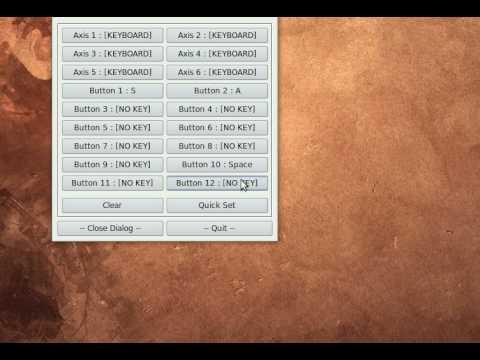 Ubuntu - Mapping keystrokes to Joystick/Gamepad buttons