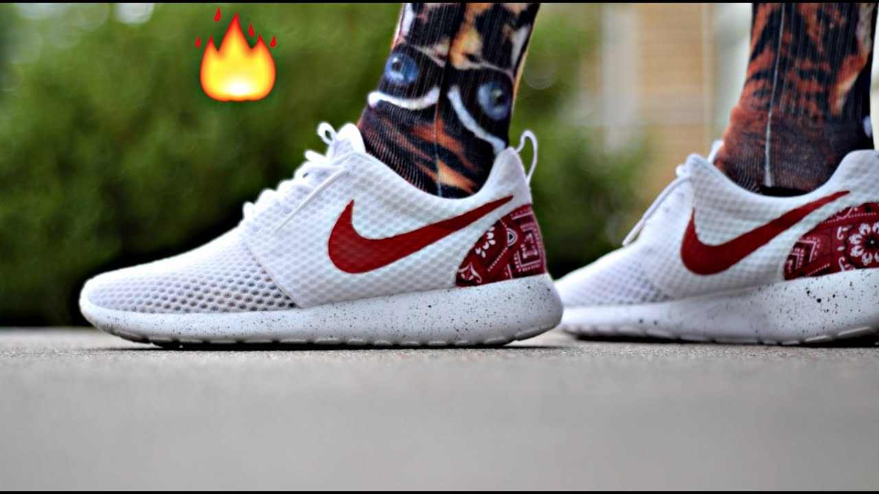 7ff9a7d3956da Custom new 2015 nike roshe run! All white roshe customs w on feet review!