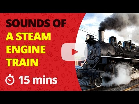 Steam Train Sound Effects Steam Engine Noise SFX approaching and stopping  at train stations