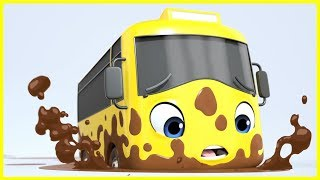 Stuck In The Mud Song! | Go Buster | Baby Cartoons | Kids Songs | ABCs and 123s