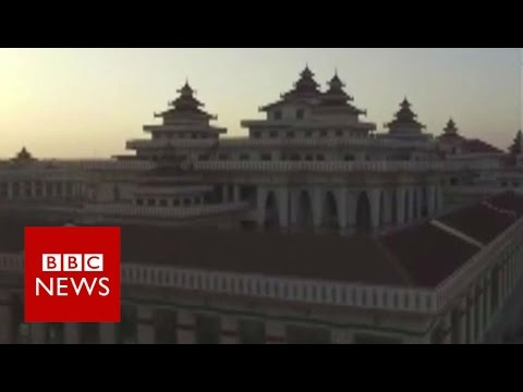 Drone footage shows new Myanmar parliament building - BBC News