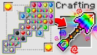 HOW TO CRAFT A $1,000,000 RAINBOW SHOVEL! *OVERPOWERED* (Minecraft 1.13 Crafting Recipe)