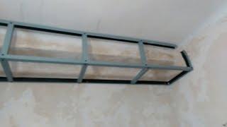 видео Как делать короб из гипсокартона на потолке