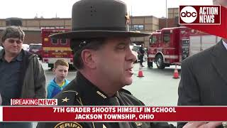 Officials provide update after Ohio 7th-grader shoots himself at school thumbnail