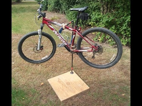 How to: Make your own DIY Bike Repair Stand- quick and inexpensive