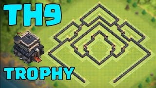 Clash of Clans - TH9 EPiC TROPHY BASE TITAN/LEGEND League *NEW UPDATE!!* | COC Winner Defense Layout