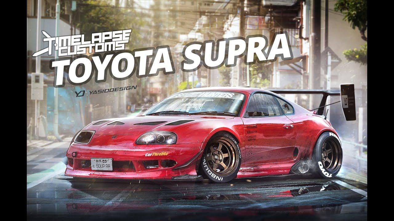 2016 Toyota Supra >> Toyota Supra. Timelapse customs - with Yasid Design - YouTube