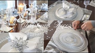 ❄️💎Christmas Tablescape Winter Wonderland Under $40 💵😱 /Home Tour /Dollar Tree DIY 2017 💎❄️
