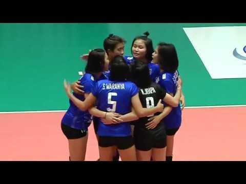 HL  SMM 12th Asian Est Cola Women's U17 Volleyball Championship / ไทย พบกับ ฮ่องกง