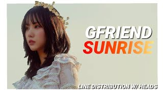 "GFRIEND ""Sunrise"" Line Distribution (W/ Heads)"