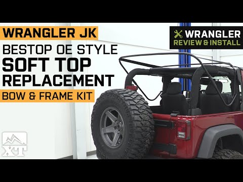 Jeep Wrangler JK 2 Door Bestop OE Style Soft Top Replacement Bow & Frame Kit Review & Install