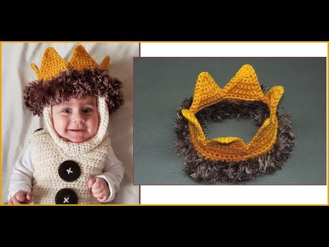 How to Crochet Tutorial: DIY King Crown for Baby by YARNutopia thumbnail