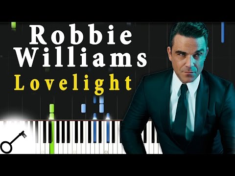 Robbie Williams - Lovelight [Piano Tutorial] Synthesia | Passkeypiano