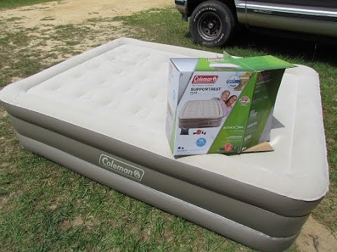 Coleman Supportrest Queen Plush Airbed With Review Youtube