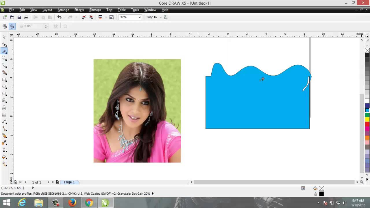 Learn Crop, Knife and Eraser Tool in CorelDRAW X5