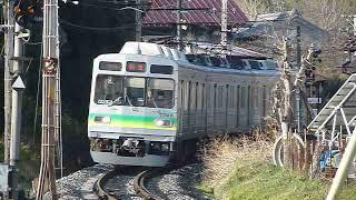 [警笛2回あり]秩父鉄道7500系7507編成「羽生行き」上長瀞駅付近通過