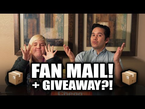 Fan mail with The Crane Couple plus giveaway!