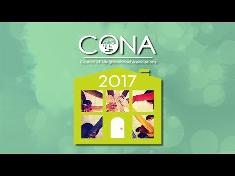 CONA 2017 Neighborhood Awards