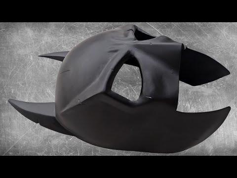 making a metal batman mask
