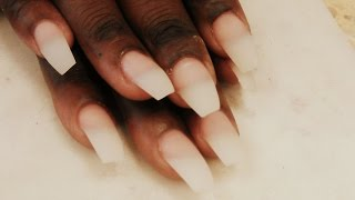 HOW TO MAKE COFFIN NAIL TIPS SHAPE