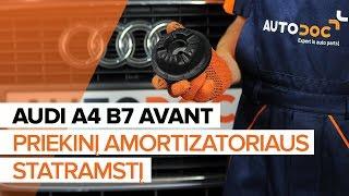 Kaip pakeisti Ašies montavimas AUDI A4 Avant (8ED, B7) - internetinis nemokamas vaizdo
