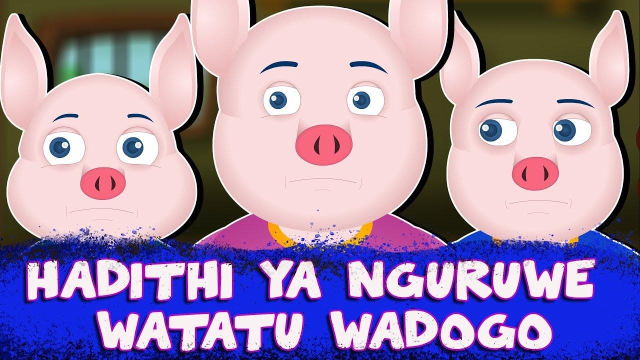 Download HADITHI YA NGURUWE WATATU WADOGO | Three Little Pigs | Swahili Fairy Tale | Hadithi za Kiswahili