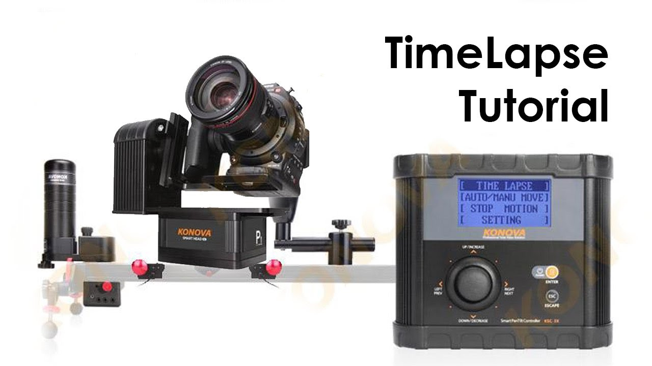 Timelapse tutorial with konova motorized slider youtube Motorized video slider