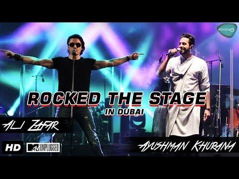 Rocking performance by Ali Zafar with Ayushman khurana Live in MTV Unplugged in Dubai