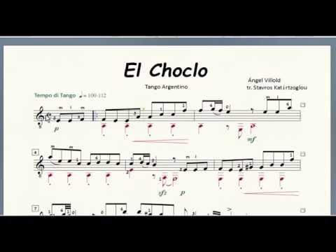 El Choclo for classical guitar