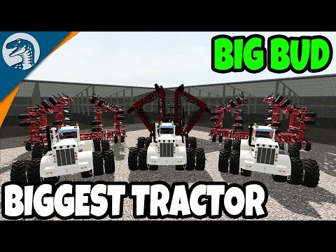 WORLD'S BIGGEST TRACTOR EVER | Big Bud MOD | Farming Simulator 17 Multiplayer Gameplay