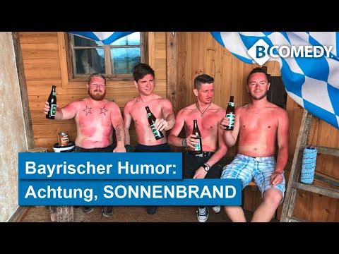 So Ein Spaß: SONNENBRAND-GEFAHR In Bayern, Lustiges Video Von B-COMEDY