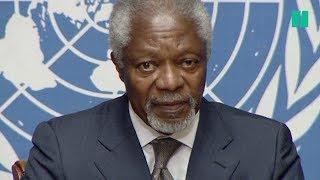 Kofi Annan, quelques mois avant sa mort, faisait un constat pessimiste sur l'avenir du monde