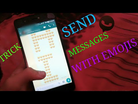 Whats app trick- How to write words with emojis in whatsapp😎