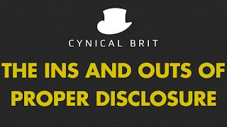 The ins and outs of proper disclosure