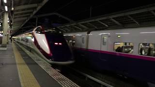 【東北新幹線】2019.1.3 郡山『やまびこ』の出発を通過線で待つ『はやて』