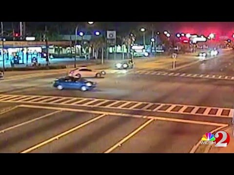 150mph T-Bone Police Crash - Chasing Armed Robber