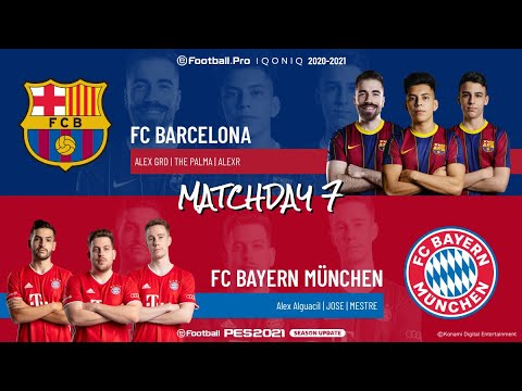 FC Barcelona vs. FC Bayern München | Highlights Matchday 7 eFootball.Pro IQONIQ 2020-2021