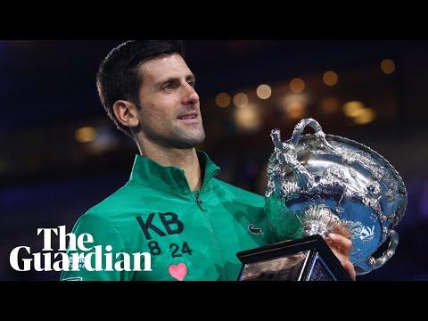 Novak Djokovic Pays Tribute To Kobe Bryant As He Wins Eighth Australian Open Youtube