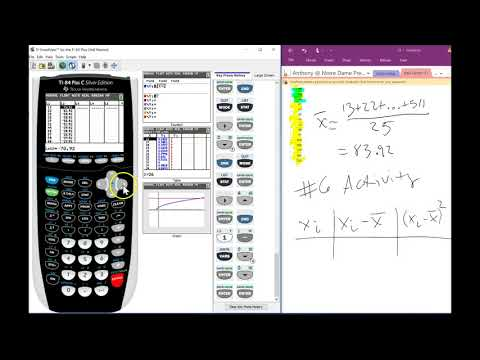 Standard Deviation With Graphing Calculator