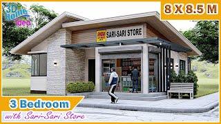 SMALL HOUSE DESIGN | 3 bedroom with Sari-Sari Store