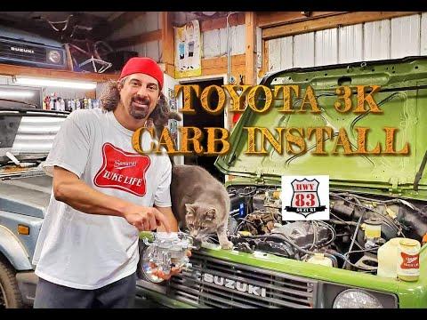 Toyota 3K Carburetor Install on Suzuki Samurai! @Hwy83 SUZUKI