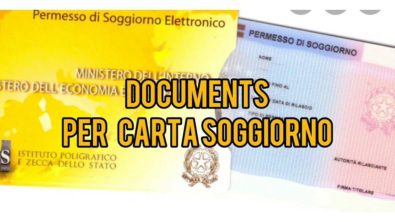 Required Documents for Carta Soggiorno - YouTube