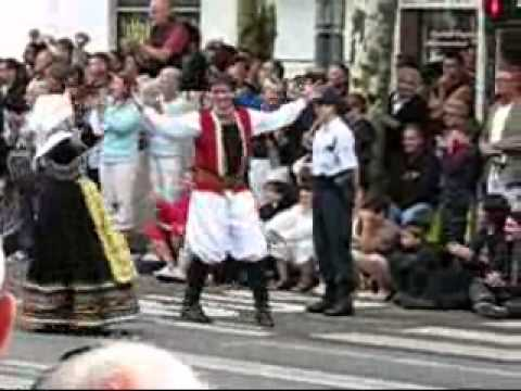 The Street Parade of the Interceltique Festival of Lorient in Brittany France (Bretagne)