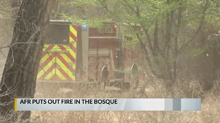 Albuquerque Fire Rescue Puts Out Fire In Bosque