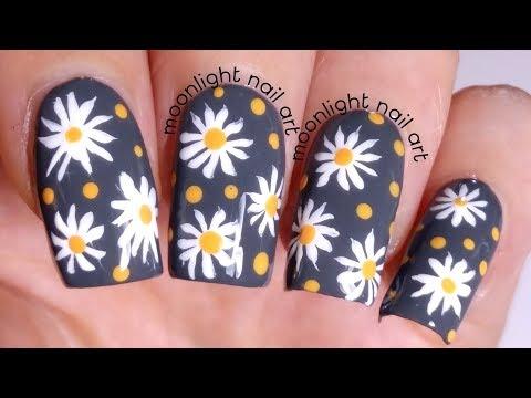 Daisy Nail Art Design Tutorial thumbnail