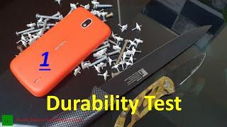 Nokia 1 Durability Test - Scratch Test, Bend Test & Drop Test !!!