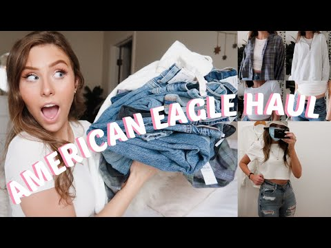 AMERICAN EAGLE BACK TO SCHOOL SHOP WITH ME + TRY ON HAUL | JEANS, FLANNELS & MORE!
